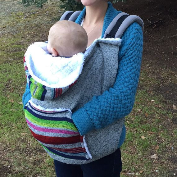 Cubierta del portador de bebé y sudadera con por OneLittleGiggle