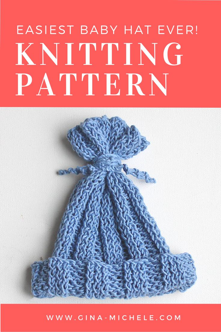 171 best gina michele knitting patterns images on pinterest free free knitting pattern for the easiest baby hat ever bankloansurffo Images