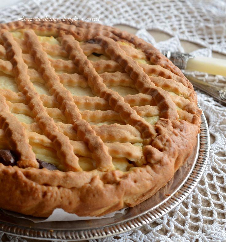 Crostata ricotta e nutella,un dolce fantastico,facile e delizioso!