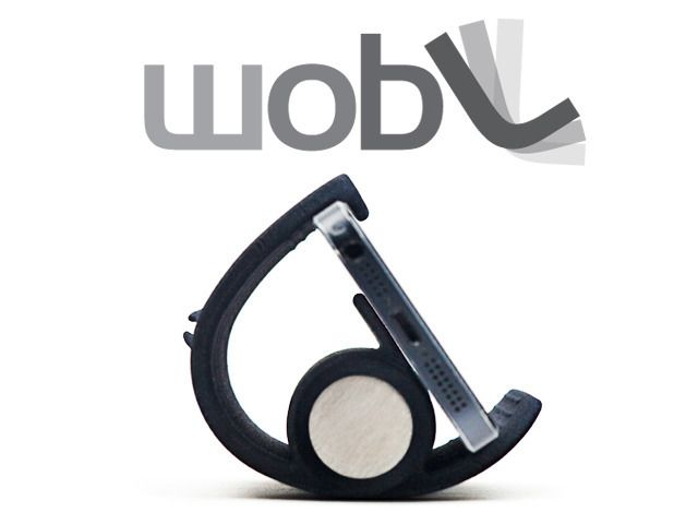 wobL - iPhone Stand and Alarm Clock App.  wobL is a simple stand and app that work together to turn your iPhone into a wobble-to-snooze alarm clock. MADE IN THE USA.