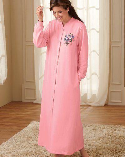 Industries Needs National Snap Front Fleece Robe Short
