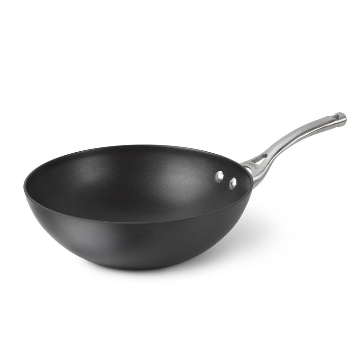 Calphalon Contemporary Hard-Anodized Aluminum Nonstick Cookware, Flat-Bottom Wok, 10-inch, Black >>> You can get additional details at the image link.