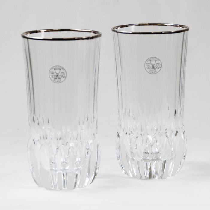 Бокал для воды/коктейля, 6 шт, Адажио - платина