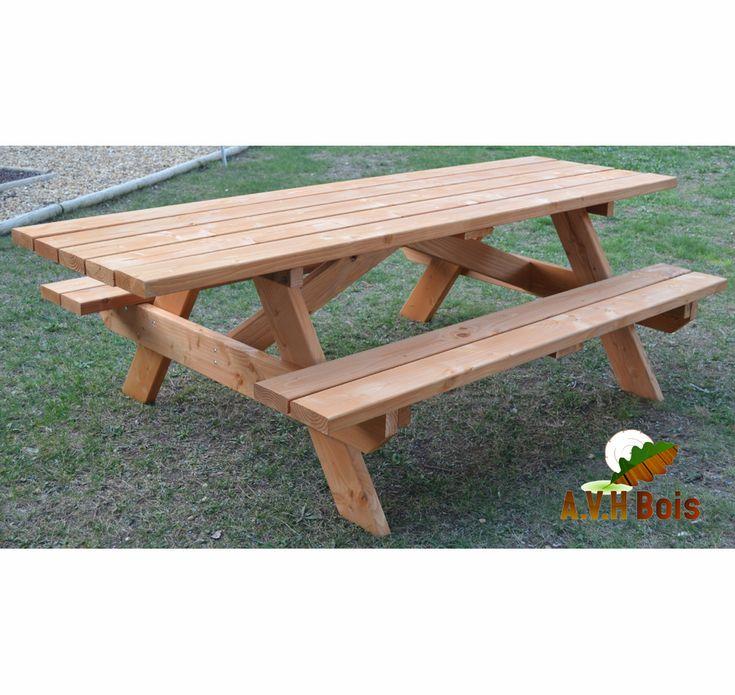 """Table forestière en bois douglas modèle """"PMR"""""""