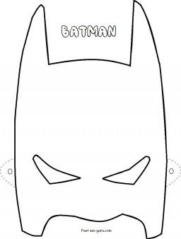 Printable Superheroes Batman Mask Coloring Pages