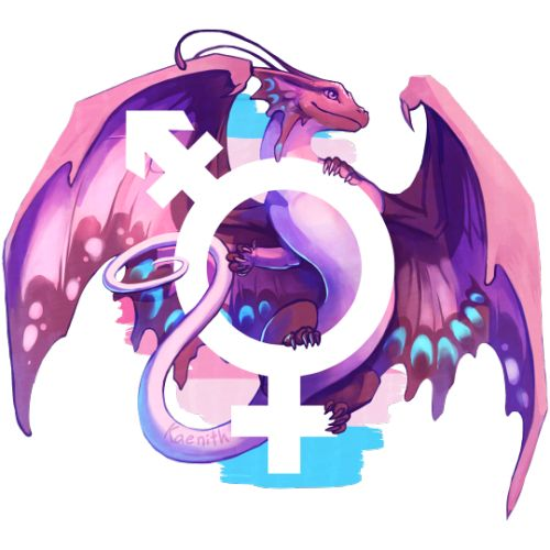 Running a little late due to real life events, but this week's pride dragons are for transfeminine and transmasculine pride!The more general trans pride dragon is here!  The other finished pieces of this series-in-progress can be found here, and the to-do list here.These designs are also available on TeePublic and Redbubble.