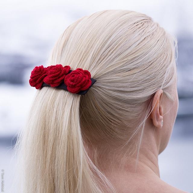 Homemade hair accessories by ingahelene, via Flickr