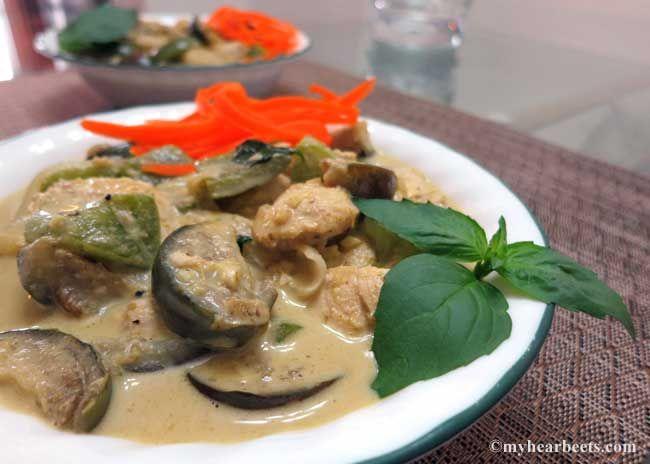 Paleo Thai Eggplant & Chicken Green Curry