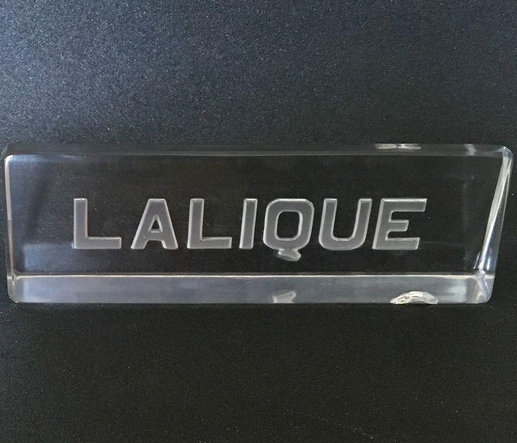 René Lalique sign used for Galeries Lafayette Paris circa 1930.
