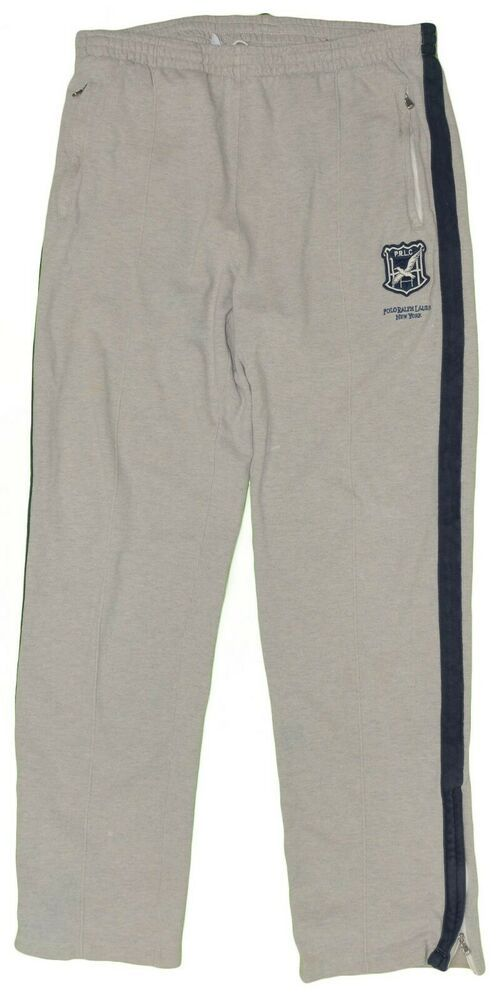 6d6c43d6e Polo Ralph Lauren Athletic Pants Pique Knit Cotton Men s Medium Gray ...