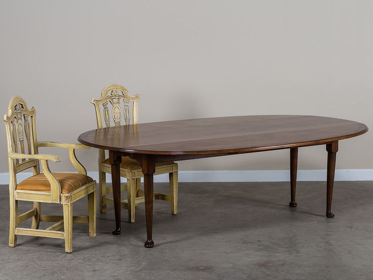 Hand Made Racetrack Oval Cherrywood Crossbanded With Mahogany Dining Table England This Grand Scale