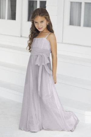Alexia Junior Bridesmaid Dresses - Style AlexiaJBM42  Description: Spring 2012. Junior version of style 2976. Bella chiffon bridesmaids gown with contrasting band.