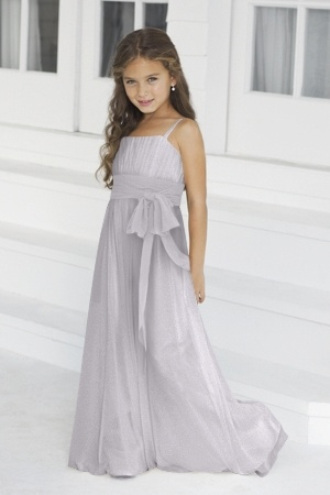 Alexia Junior Bridesmaid Dresses - Style AlexiaJBM42  Description: Spring 2012. Junior version of style 2976. Bella chiffon bridesmaids gown with contrasting band.