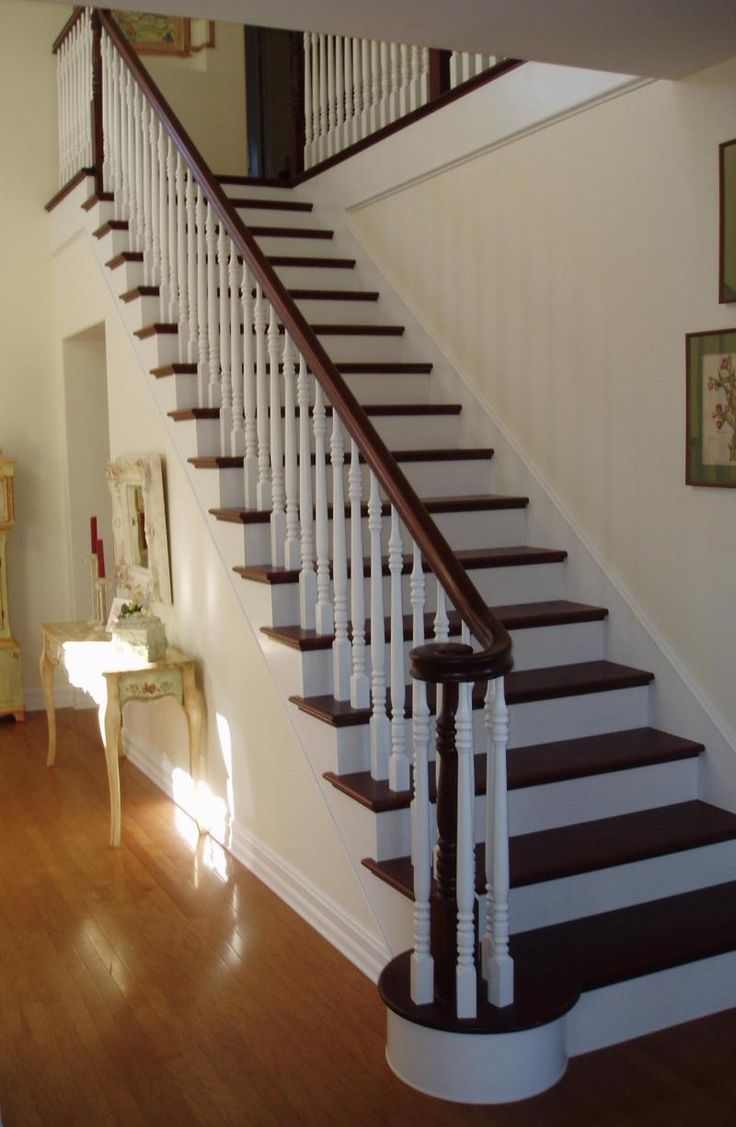Best Way To Paint A Dark Wood Staircase White