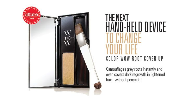 Color Wow Root Cover Up - Hair Coloring Product: Color Wow - Root Cover Up  First powder-formula root touch-up (in 6 shades) to seamlessly cover gray and dark regrowth without peroxide Creates a natural look that lasts until the next shampoo $34.50, ColorWowHair.com