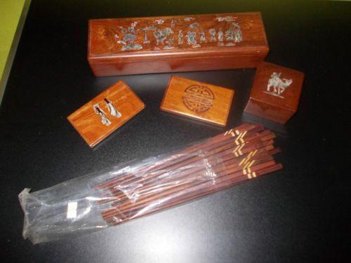 Scatole in legno Indonesiane