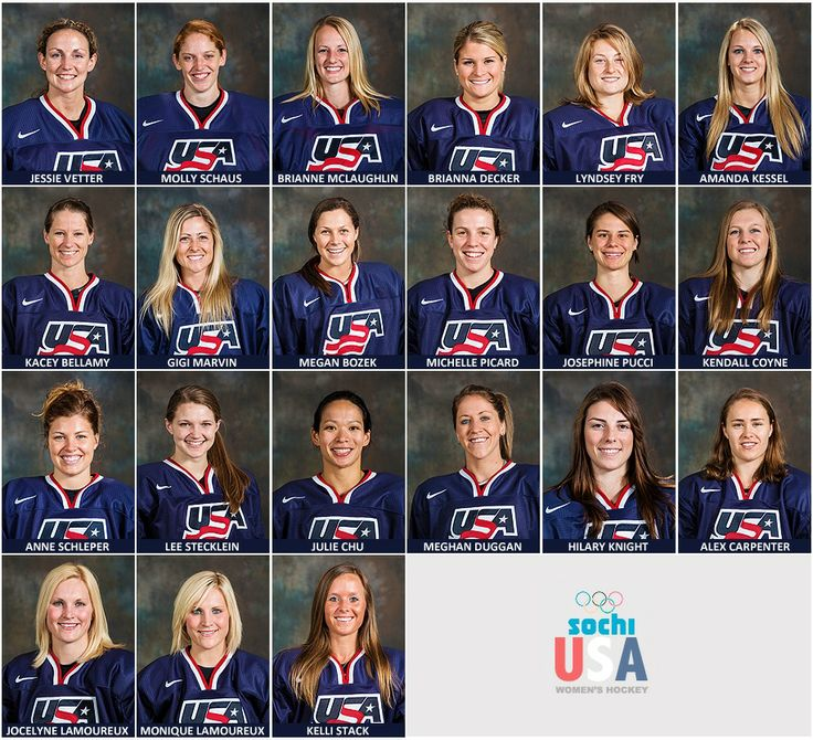 USA Women's hockey team that are going to Sochi http://womenshockeyjournal.blogspot.com/2014/01/your-2014-usa-olympic-womens-hockey-team.html