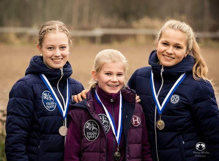 Congratulations to the girls ! They won silver in the indoor Finnish National Championship of Dressage