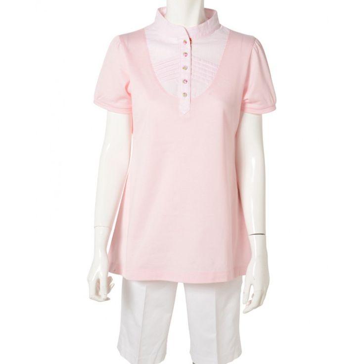 レディース チュニックポロ ピンク  TUNIC POLO Pink