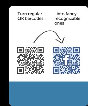 Turn regular Bar Codes into recognizable ones. For order forms/posters, have students order online? Or submit pictures?