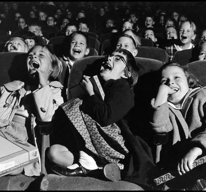 USA. 1958. Children in a movie theater. Photo by Wayne F. Miller.