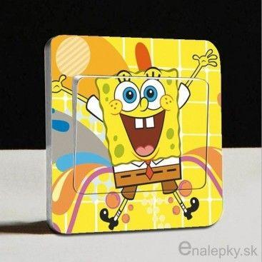 Nálepky na stenu/vypínač - SpongeBob