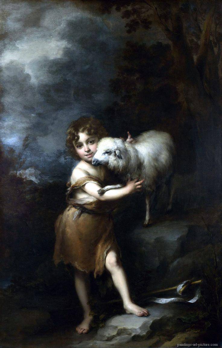 MURILLO, Bartolome Esteban - The Infant Saint John with the Lamb