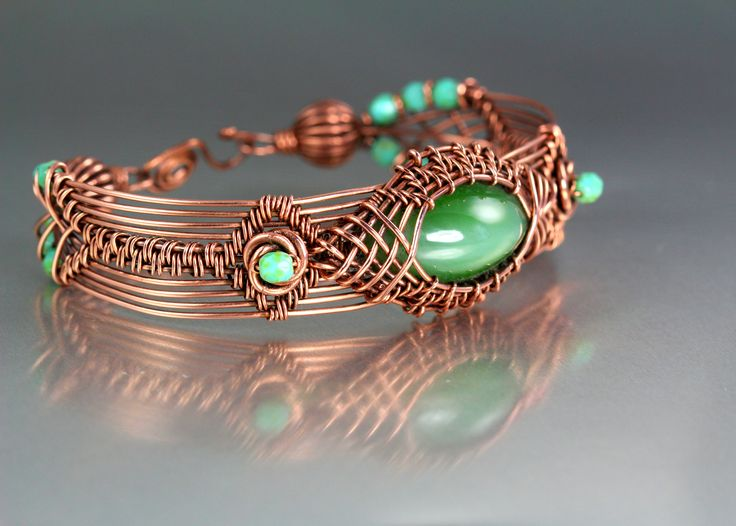 """""""Copper prototype bracelet. I combined many techniques for this one. I am writing a book on wire work and this will be included."""" -- by Lisa Barth"""