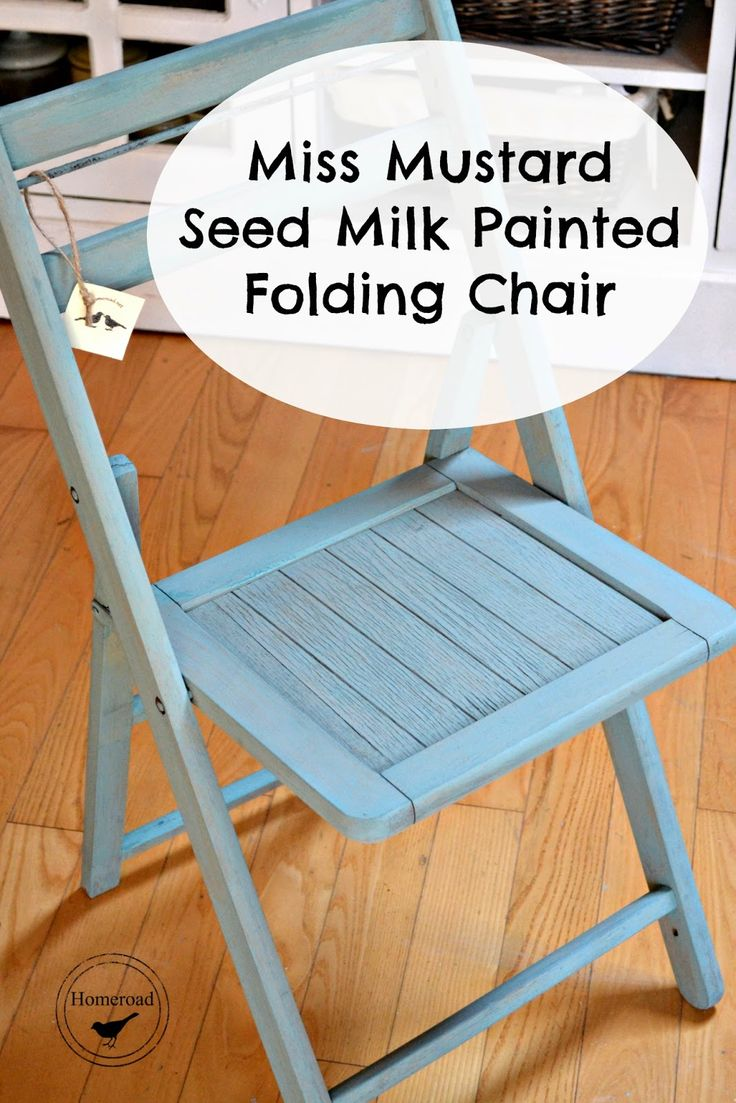 Painted chairs pinterest - Miss Mustard Seed Milk Painted Folding Chairs Www Homeroad