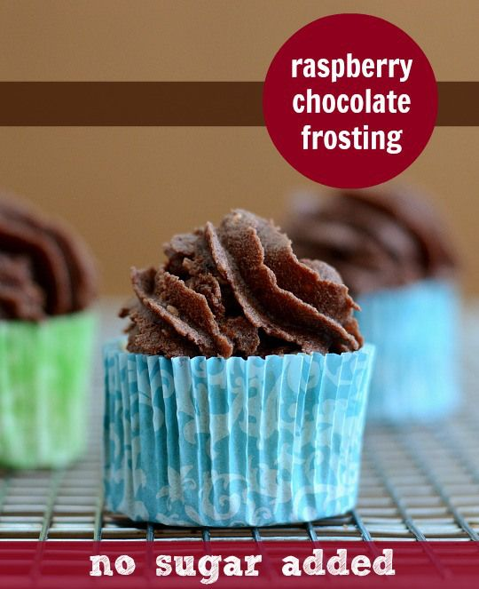 You will not believe that this Raspberry Chocolate Frosting has no added sugar. It's so delicious, and healthy too! Recipe from Real Food Real Deals.