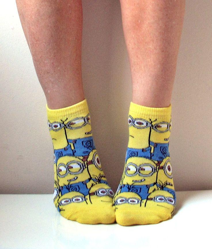 Minion Socks Boot Socks Women Socks Leg Warmer Christmas Socks Boot Socks Ladies Casual Cotton Socks Ankle Socks by ScarfLovers on Etsy https://www.etsy.com/listing/254631449/minion-socks-boot-socks-women-socks-leg
