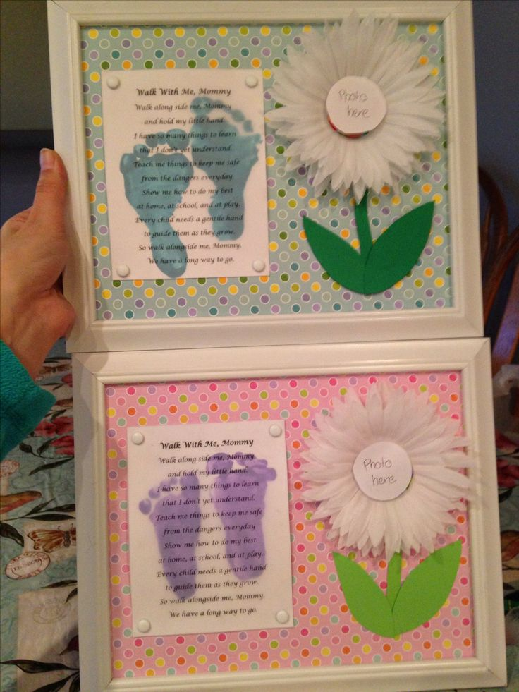 Mother's Day gifts for my infant room!