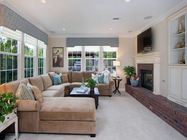 Family Room Window With Fireplace | Family Room Decorating With Fireplace