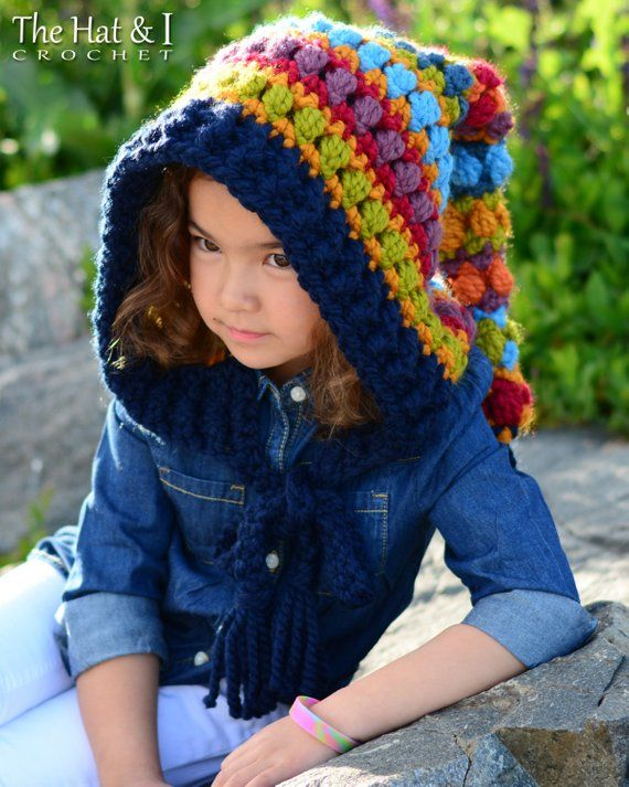 c483b7e7cd5 Crochet PATTERN - Bohemian Nights Hoodie - crochet hood pattern ...