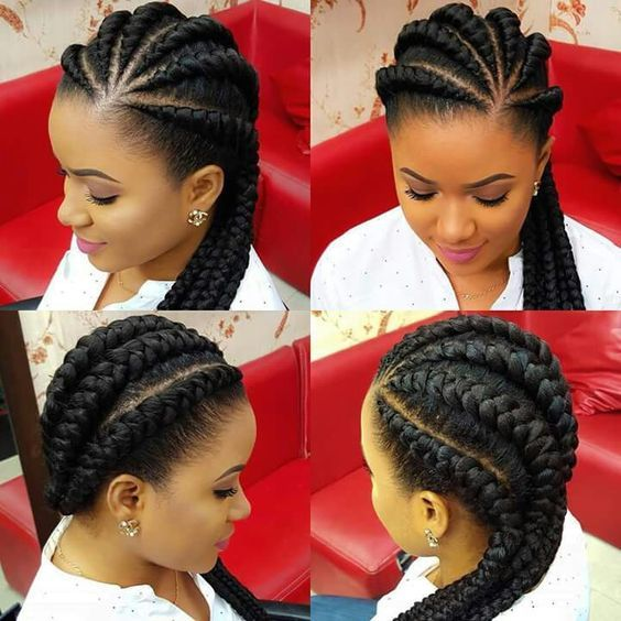 Ghana Braids hairstyles for Black Women are perfectly ethnic and stunningly modern.