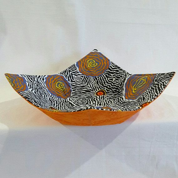 Microwave Bowl Holder (Reversable) in an Aboriginal design called  Salt Plain  in black with an orange print reverse & 18 best Microwave Bowl u0026 Plate Holders images on Pinterest | Dish ...