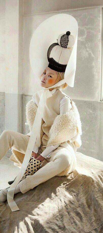 woman in folk painting, Vogue Korea