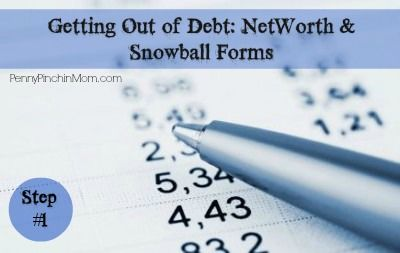 Learn how you can get out of debt!!  First lesson is the Net Worth and Debt Paydown forms....up next week is budgets!!