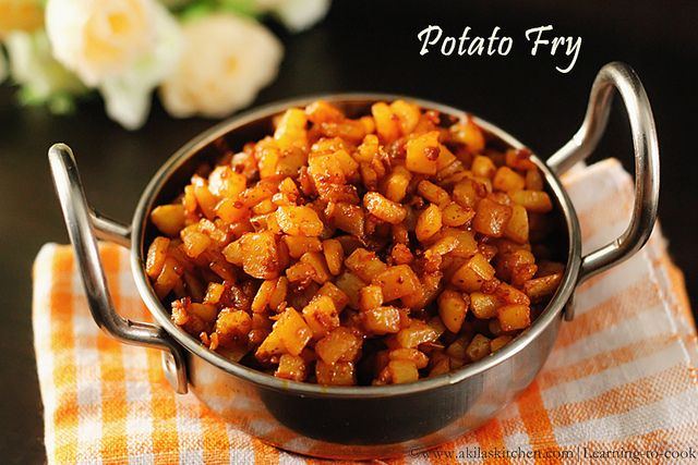 Potato fry / Aloo fry / Urulai kizhangu fry - a South Indian fry
