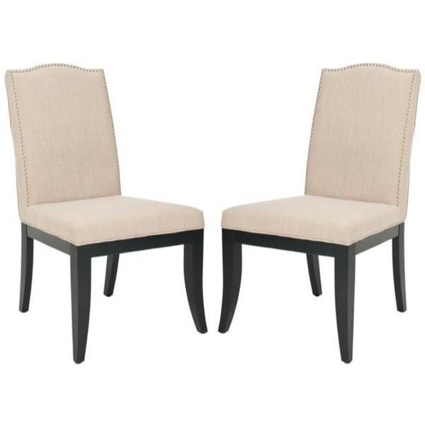 Safavieh Laurent Taupe Nailhead Side Chairs (Set of 2)