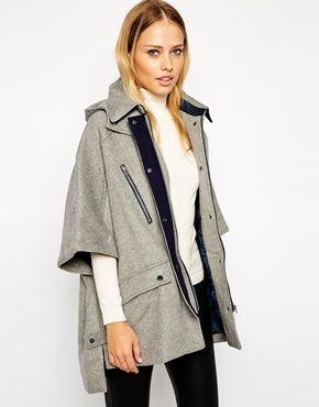 structured cape | british chic