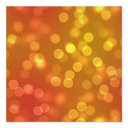 Iphone Wallpapers – Gold Bokeh Lights Poster – pattern sample design template diy cyo customize