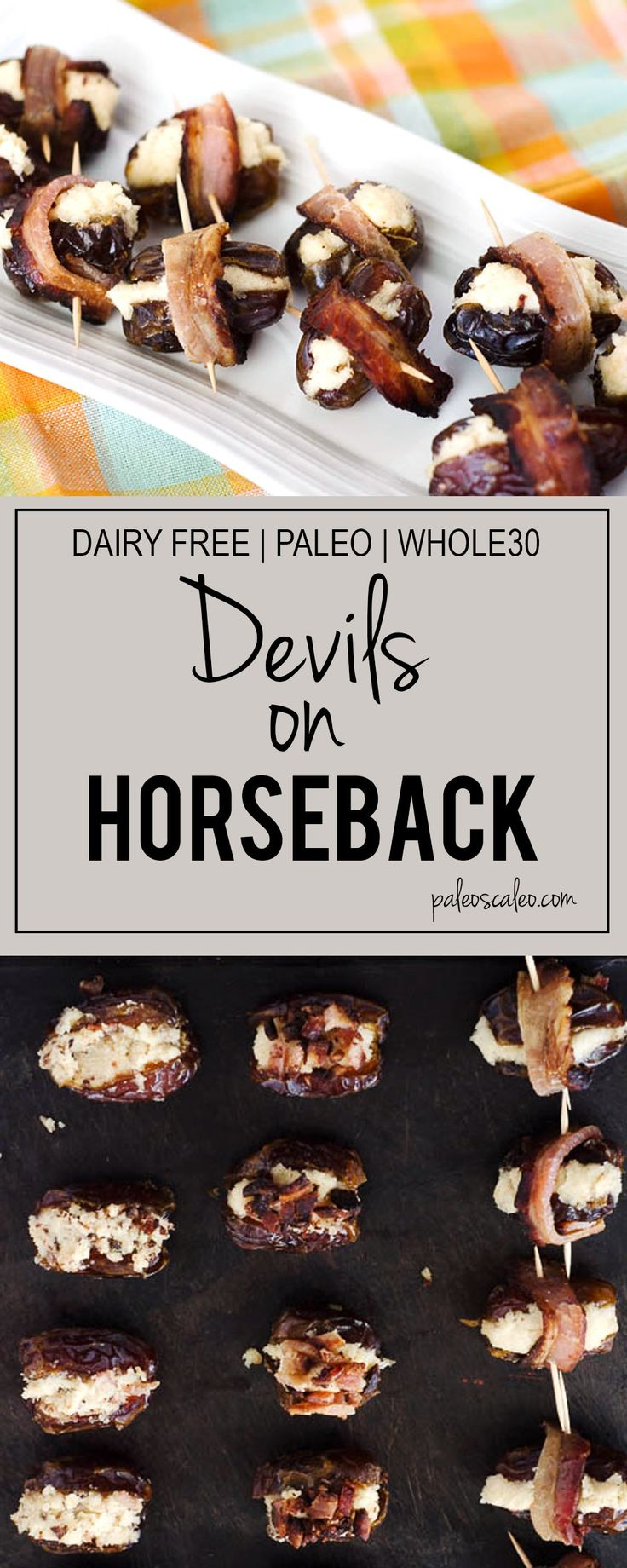 These salty and sweet snack make the perfect quick appetizer! Dairy free and Whole30 compliant!   PaleoScaleo.com