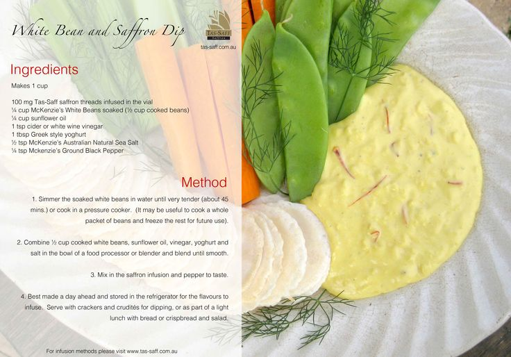 Prepare this saffron bean dip today ready for the Footy finals tomorrow!
