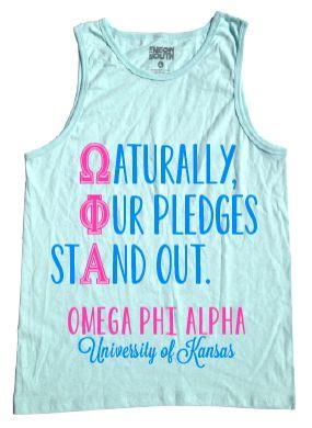 Omega Phi Alpha pledge shirts