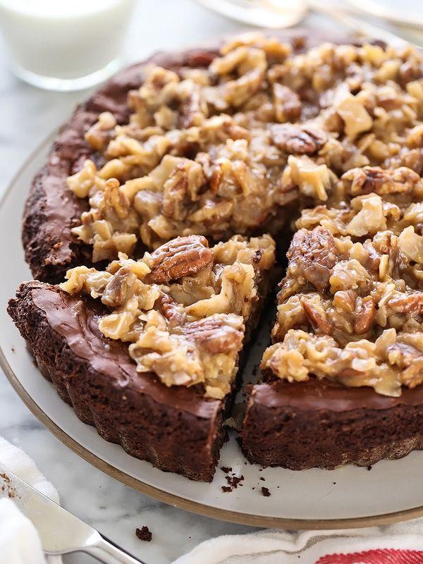 German Chocolate Brownie Pie | foodiecrush.com