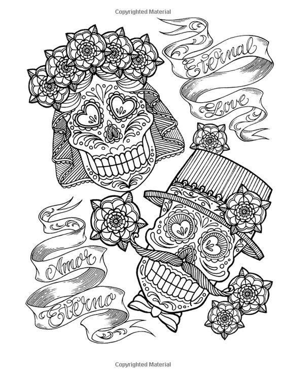 Mejores 211 imágenes de coloring skull en Pinterest | Dragones ...