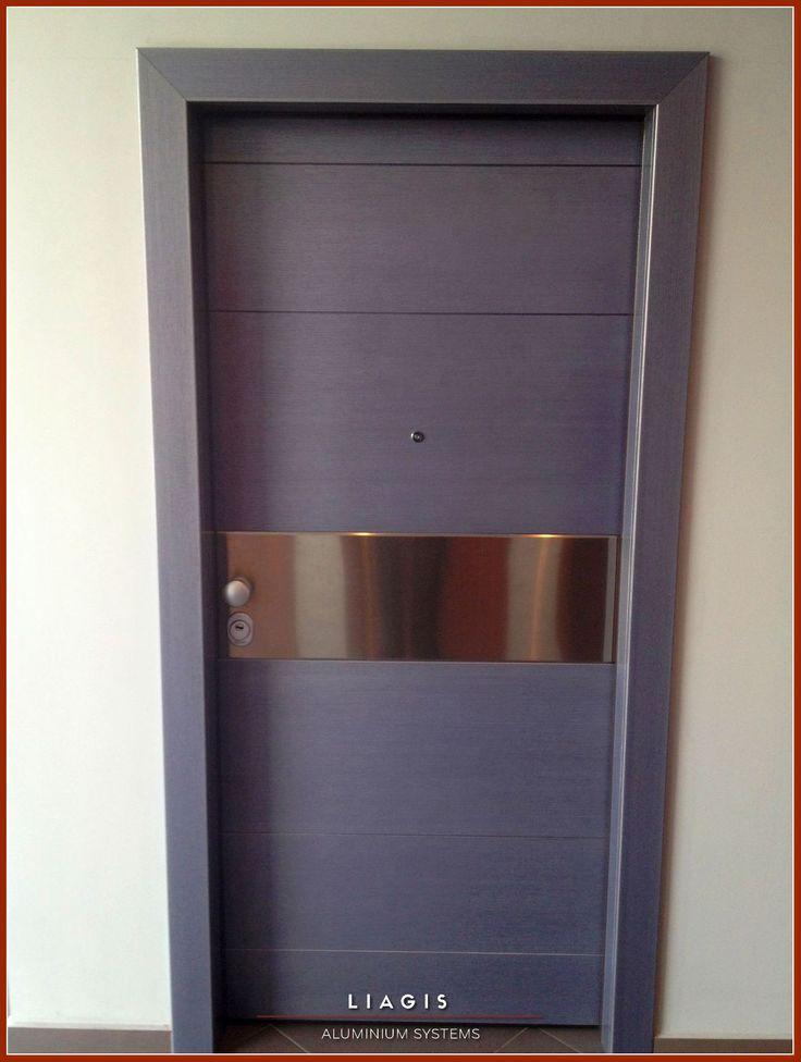 Πόρτες ασφαλείας με επένδυση καπλαμά