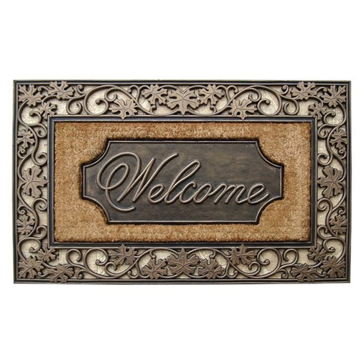 First Impression Large Welcome Outdoor Brush Doormat - A1HOME200029