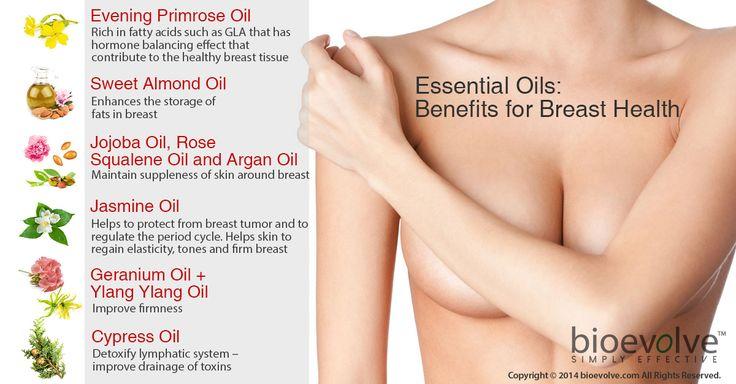 Essential oils: Benefits for your breast health - Evening Primrose Oil, Sweet Almond Oil, Jojoba Oil, Jasmine Oil, Geranium Oil, Cypress Oil